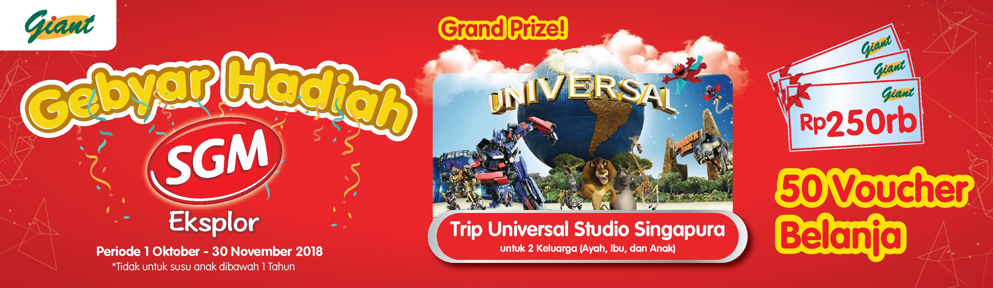 Gebyar Hadiah Sgm Bersama Giant Tiket Universal Studio Singapura Anak